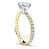 Yellow gold pave set diamond engagement ring