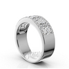 Princess and round diamond wedding and anniversary bands pave set