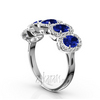 Micro pave set fancy sapphire wedding anniversary band