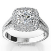 Split shank double halo engagement halo